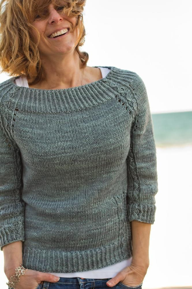 Editor's choice: Narragansett sweater by Thea Colman - download at LoveKnitting!
