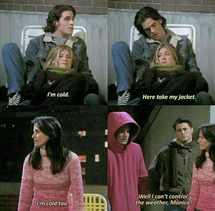 Expectations Reality I M 100 Monica And 0 Rachel Friends Scenes Funny Friend Memes Friend Jokes