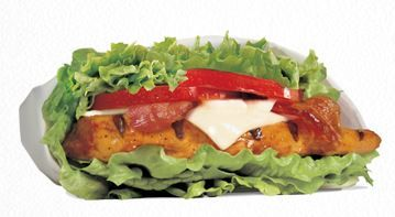 CARLS JR. LOW CARB IT.® - LOW CARB CHARBROILED CHICKEN CLUB™.  No Cheese. No Mayo. Add Mustard. Only 300 calories! 18 grams of fat, and 27 grams of protein.  #caloriecounter