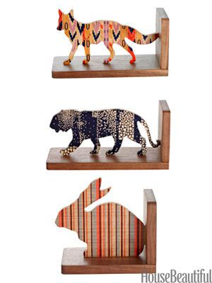 Come on, wouldn't you love a Rabbit, Tiger and or Coyote to do your library shelves proud?