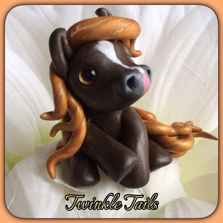 Caramel Macchiato Pony! Aka Melmac! #fallpony www.facebook.com/TwinkleTails www.etsy.com/shop/TwinkleTailsGallery