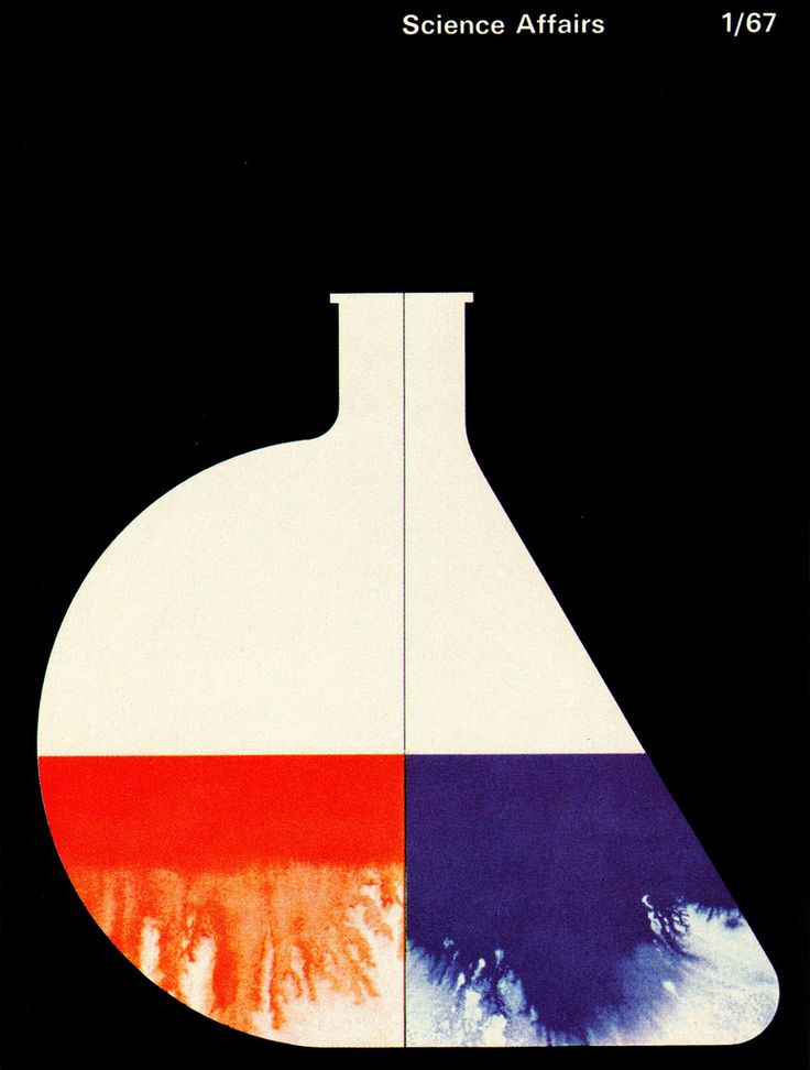 Cover of Canadian magazine Science Affairs. From Graphis Annual 68/69.