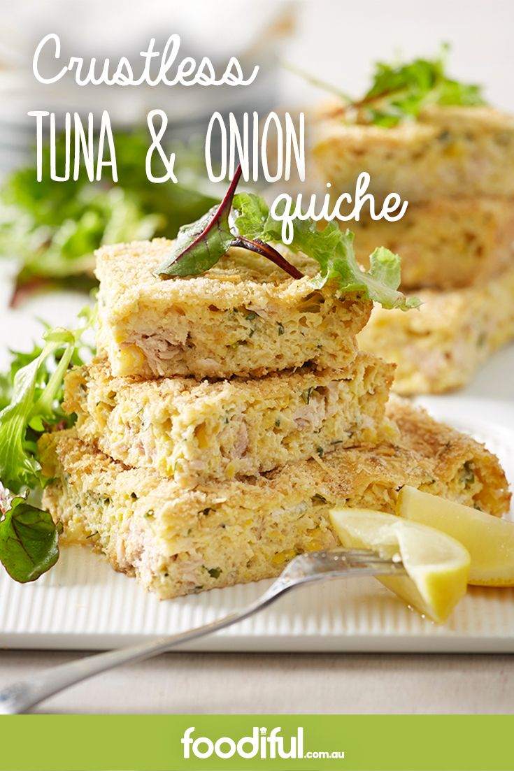 Using tinned tuna, this crustless tuna quiche recipe is great value. With parmesan cheese, corn, chives and eggs, this quiche serves a crowd of 4 and takes 50 minutes to make.