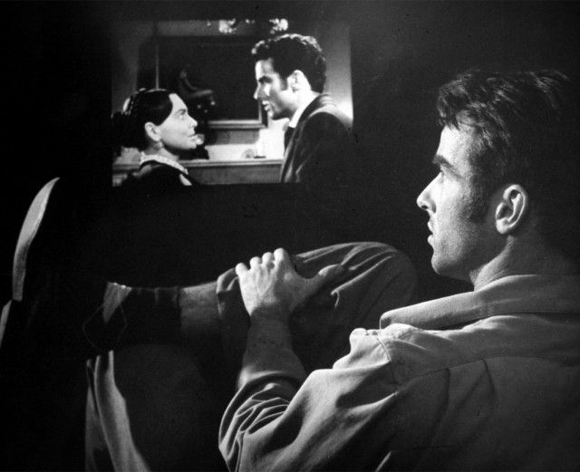 """Montgomery Clift scrutinizing his performance in """"The Heiress"""""""