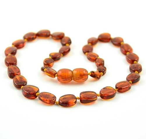 Shop now for Amber Teething Necklace handmade using the finest quality Baltic amber by amber artisans.