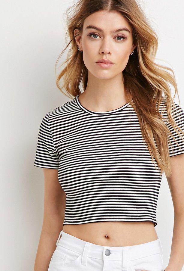 Forever 21 Stripe Crop Top
