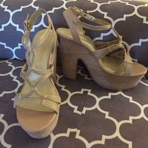 "($35 - inclusive of US shipping) Seychelles Shoes - Seychelles ""Heat of the Moment"" Platform Sandals 9"