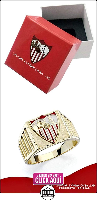 Sello escudo Sevilla FC oro de ley 18k caballero estrías [8590] - Modelo: 40-172  ✿ Joyas para hombres especiales - lujo ✿ ▬► Ver oferta: https://comprar.io/goto/B01M0JOODT