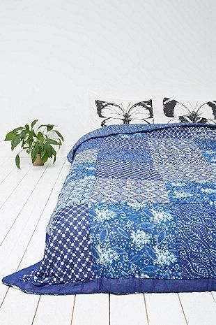 Kona Quilt in Blue - Urban Outfitters