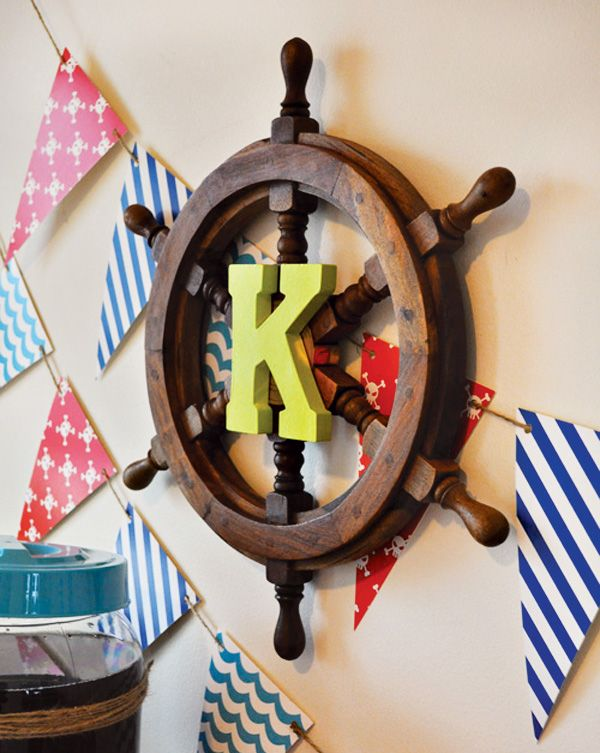 Would love this on. Y little pirate's room!!  {Preppy & Modern} Neverland Pirates Party