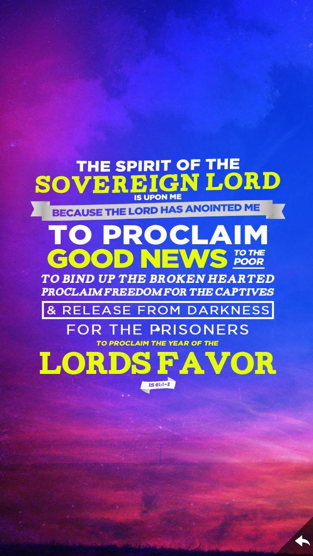 (InJapanese:〈†旧約聖書†〉イザヤ書61:1~2神である主の霊が、わたしの上にある。 主はわたしに油をそそぎ、貧しい者に良い知らせを伝え、心の傷ついた者をいやすために、わたしを遣わされた。 捕らわれ人には解放を、囚人には釈放を告げ、主の恵みの年とを告げ知らせるために。。 )  Come read more about the Beauty for Ashes Project at: http://iamcrossingjordan.wordpress.com/2014/05/11/beauty-for-ashes/ He gives beauty for ashes and strength for fear Isaiah 61 Isaiah 61:1-2