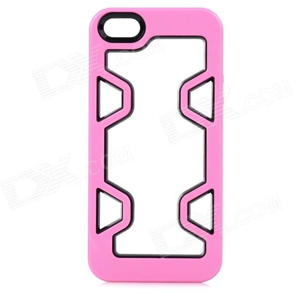 Color: Pale Pink + Black; Quantity: 1 Piece; Material: Plastic; Compatible Models: IPHONE 5S,IPHONE 5; Design: Mixed Color; Style: Bumper Cases; Other Features: Protects the frame of your device from abrasion; Packing List: 1 x Bumper case; http://j.mp/1sWQuy6