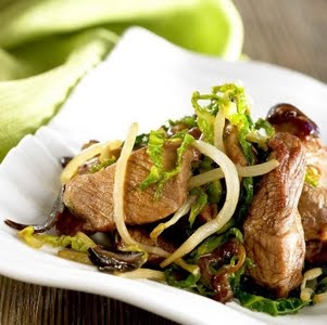 Fried Pork with Green Cabbage | Interesting Food | Pinterest | Green ...