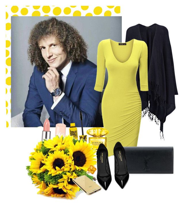 """David Luiz"" by bokilly91 ❤ liked on Polyvore featuring Jennifer Paganelli, Joseph, Yves Saint Laurent, Maybelline, Versace, Goldgenie and Baccarat"