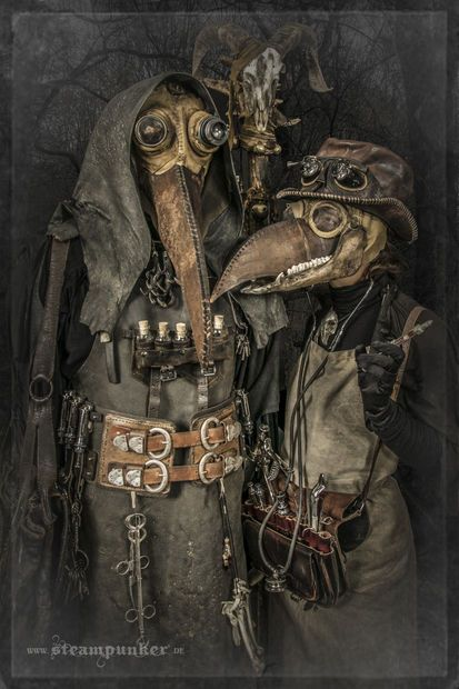 Male & female versions. Creepy Halloween costumes!