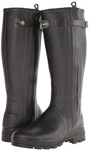 New in Box Le Chameau Footwear Men's Chasseur Cuir Rain Boot Noir 41 EU/8 M US  #LeChameau #Rainboots