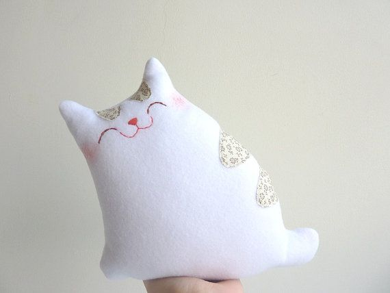 Cat Plush  Little Snow with Stripes  Etsy by dancingintherains