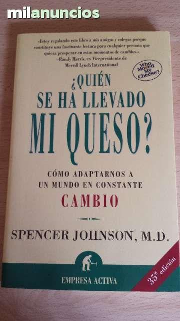 VENDIDO.Vendo libro ¿Quién se ha llevado mi queso? Anuncio y más fotos aquí: http://www.milanuncios.com/libros/quien-se-ha-llevado-mi-queso-139645019.htm