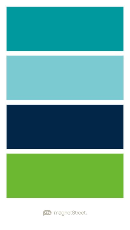 Awesome Teal, Turquoise, Navy, And Kiwi Wedding Color Palette   Custom Color Palette  Created