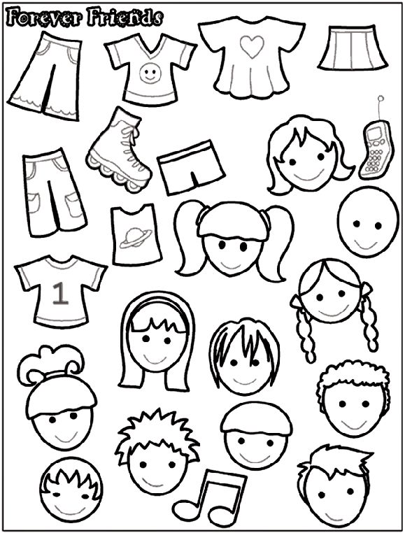 Forever Friends 2 Coloring Page Kids Stuff Pinterest