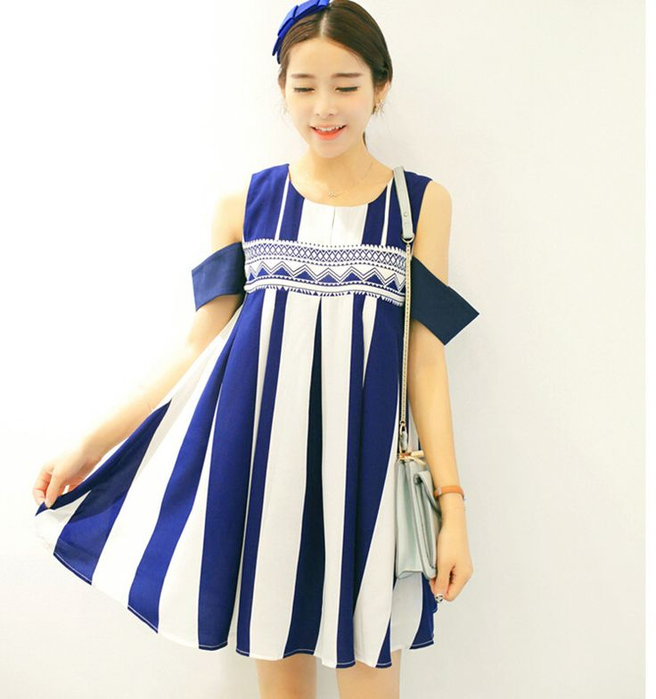 Find More Dresses Information about Maternity summer new fashion folk style loose thin stripe maternity dress 2016 summer casual dresses,High Quality dress b,China dress romantic Suppliers, Cheap dress mario from fashin best on Aliexpress.com