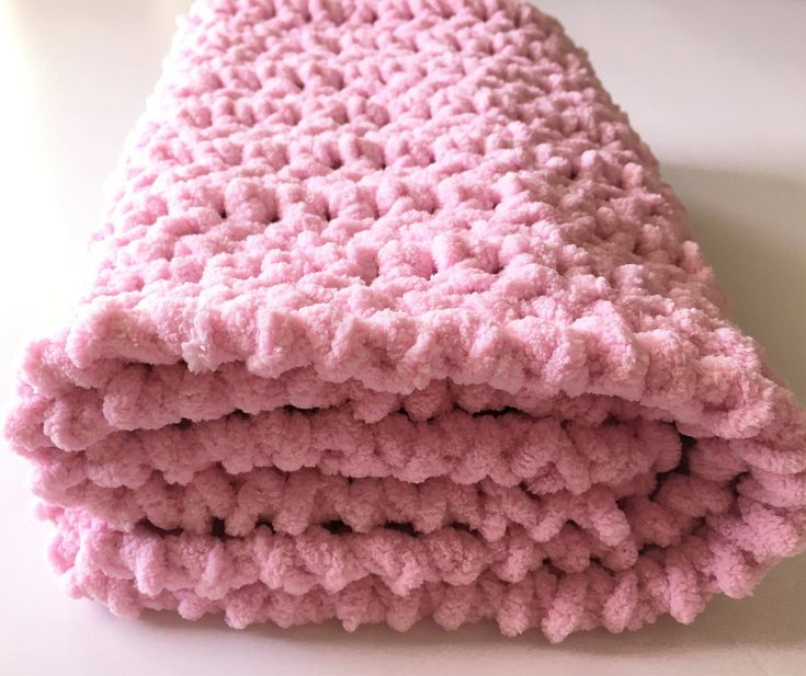Pink Baby Blanket, Crochet Baby Blanket, Car Seat Blanket,  Baby Girl Blanket, Pink Blanket, Baby Gift, Handmade Blanket, Free Shipping by CraftCreationsbyRose on Etsy