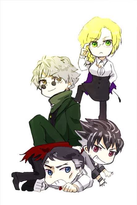 Glynda, Ozpin, Qrow and Ironwood