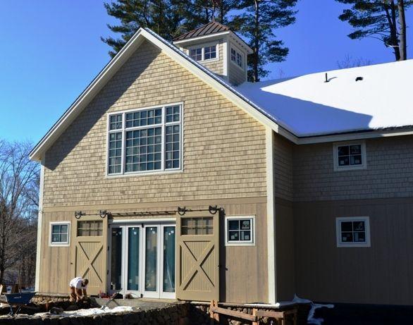 Exterior Barn Doors | ... exterior glass doors with two sliding barn doors for esthetics and