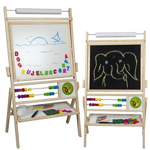 maltafel f r kinder standtafel magnettafel mit papierrolle viel zubeh r geschenkideen 3 6. Black Bedroom Furniture Sets. Home Design Ideas