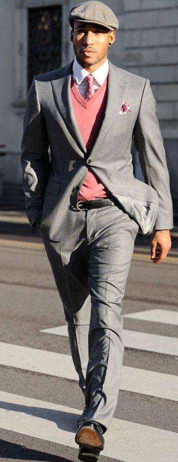 His dapper style | Ferragamo | grey suit | Raddest Men's Fashion Looks On The…