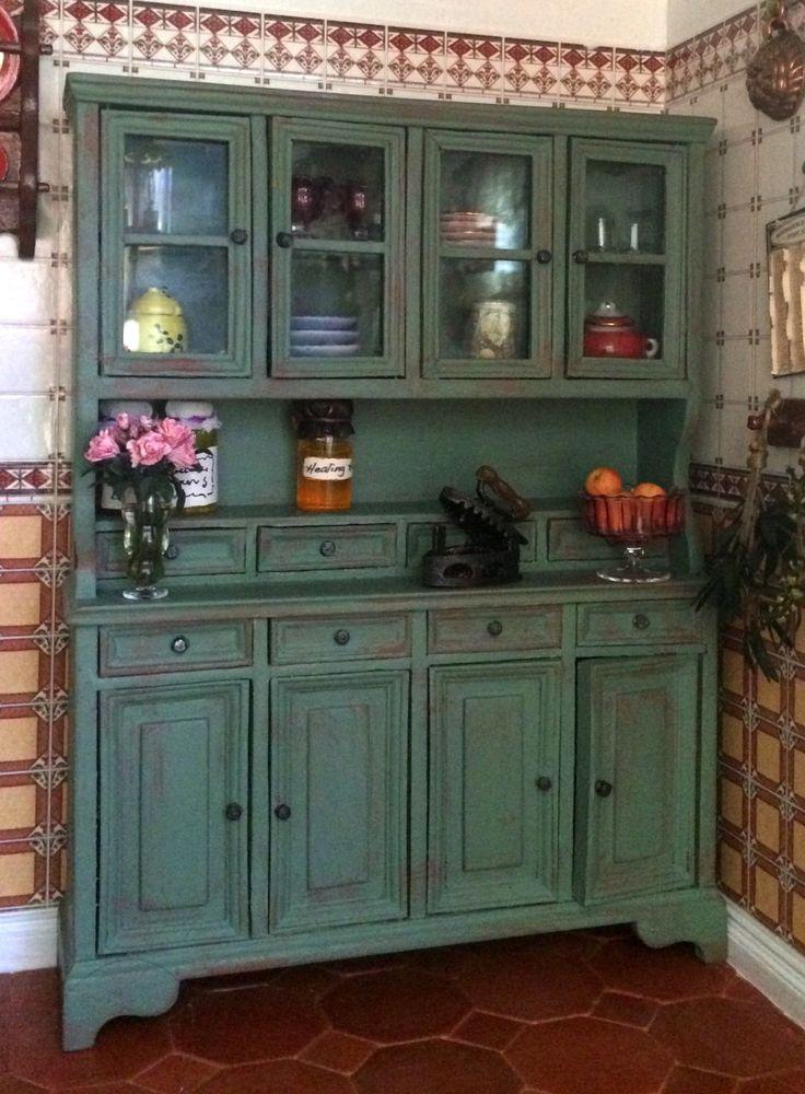 Meuble cuisine buffet vitrine maison de poupées échelle 1:12 de la boutique MadeInEven sur Etsy