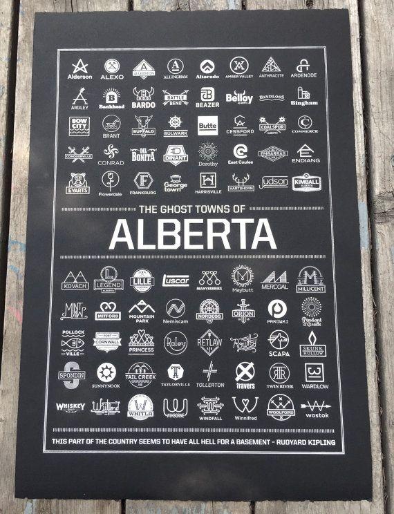 Ghost Towns of Alberta Black by NigelHood on Etsy
