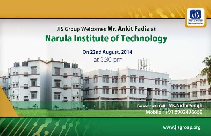 """Ankit Fadia, who has taken the world of ethical hacking by storm, will visit Narula Institute of Technology tomorrow (22nd August) at 5:30pm. Fadia, a well-known cyber security consultant and author of several books on computer security, will talk about his new book """"Fifty ways to a successful professional life."""" Interact with the youth icon of the hacking world and know the mantra to succeed in your professional life. For more info call Ms.Nidhi Singh, Mobile : +91 8902496650"""