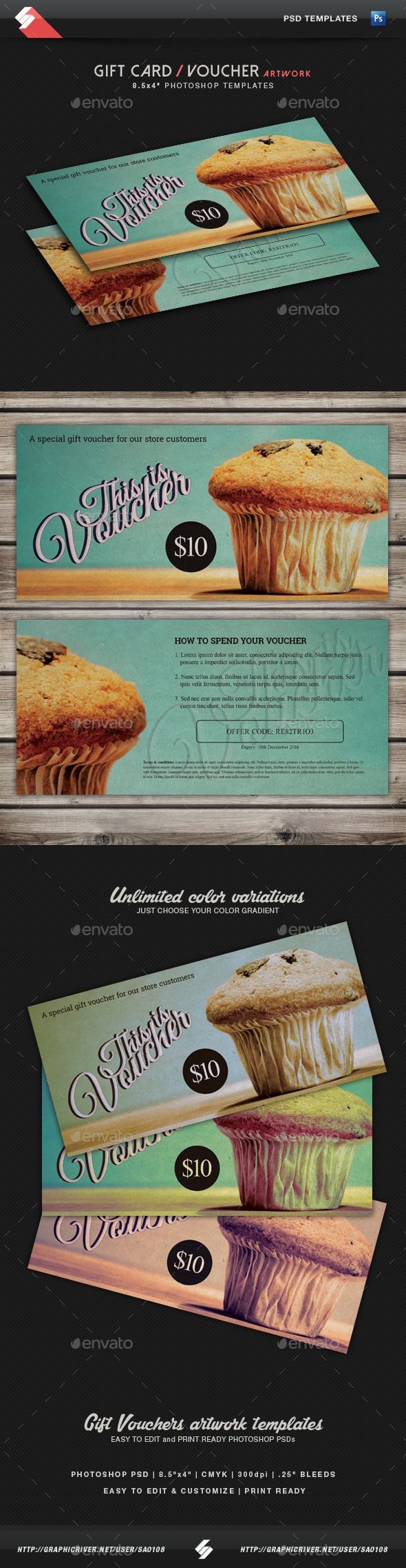 Best Voucher Design Images On   Gift Cards Gift