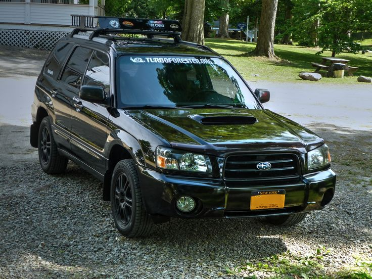 2004 Java Black Pearl Subaru Forester XT With Blacked Out Grill, Black  Plastidipped Rims,