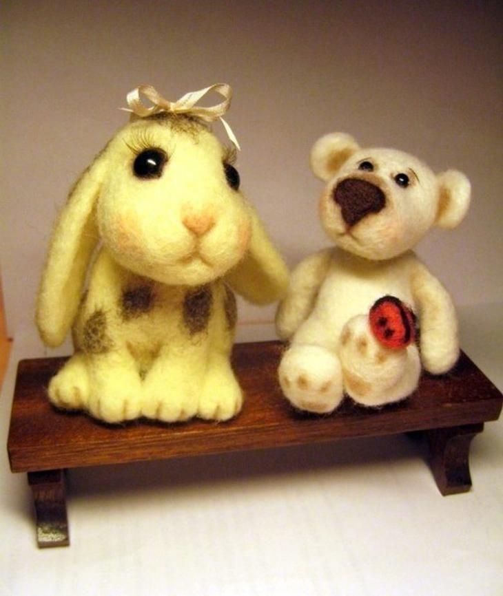Милые игрушки из войлока от Татьяны Бараковой