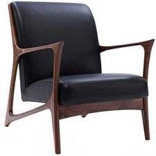 Black & Walnut Joakim Scandinavian Armchair