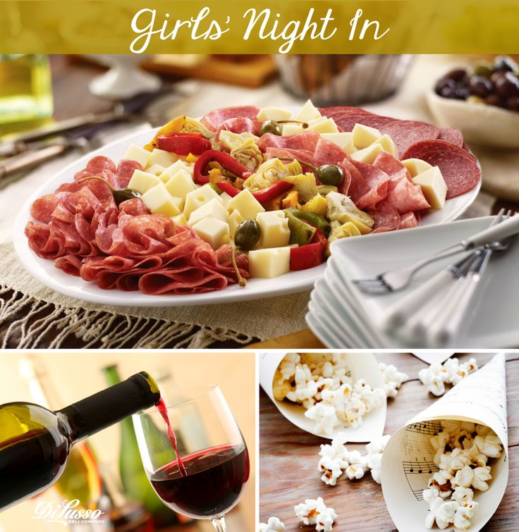 Make It a girl's night in with friends, food, and of course wine!
