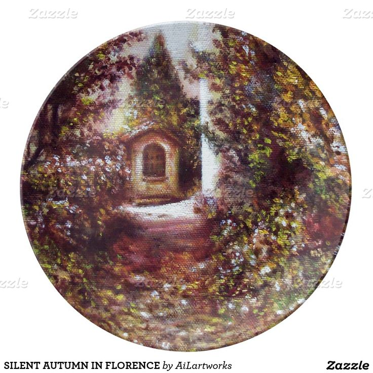 SILENT AUTUMN IN FLORENCE PORCELAIN PLATES