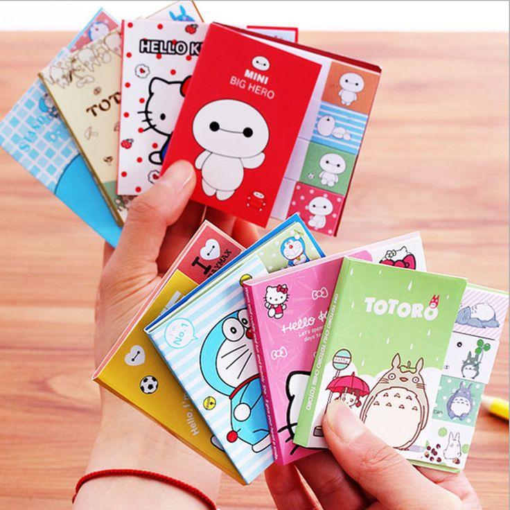 Lucu Kartun Totoro Hello Kitty Doraemon Baymax Self-adhesive Memo Pad Catatan Tempel Posting Bookmark Sekolah Kantor Pasokan