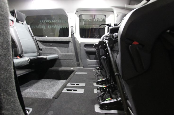Wheelchair Accessible Volkswagen Caddy Tamlans, Foldable Seats