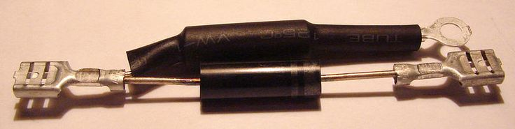 Высоковольтный диод с защитой HVR-2X для СВЧ-печи LG H.V.D+CIRCUIT PROTECTOR CL01-12 HVR-2X MS-2022G Партномер 6851W1A001M