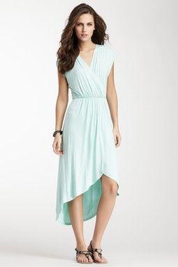 Hi-Lo Wrap Dress