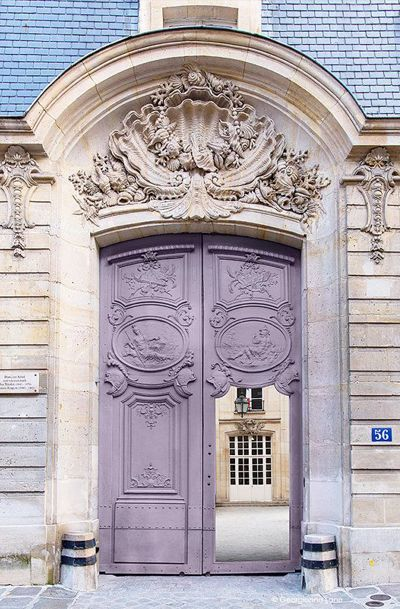 Paris Photography - Mauve Door, Architectural