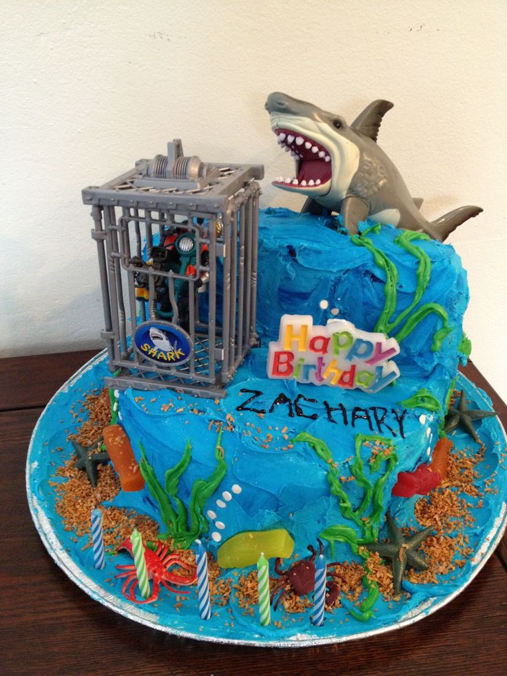 Cake Decorating Ideas Shark : 17 Best images about Shark Party on Pinterest Birthday ...