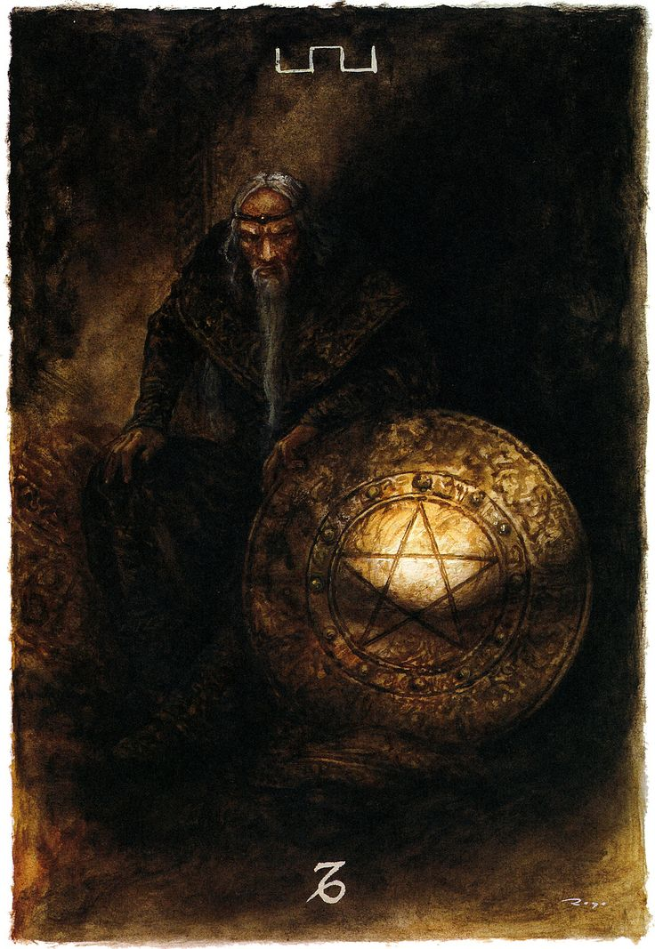 The Labyrinth Tarot - Minor Arcana: Pentacles - King of Pentacles