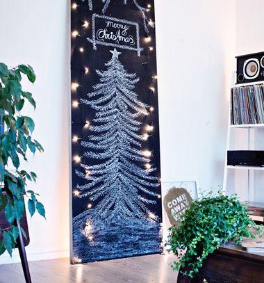 DIY Chalkboard Christmas tree // Krétatábla karácsonyfa - kreatív ötlet karácsonyfa helyett // Mindy - craft tutorial collection // #crafts #DIY #craftTutorial #tutorial