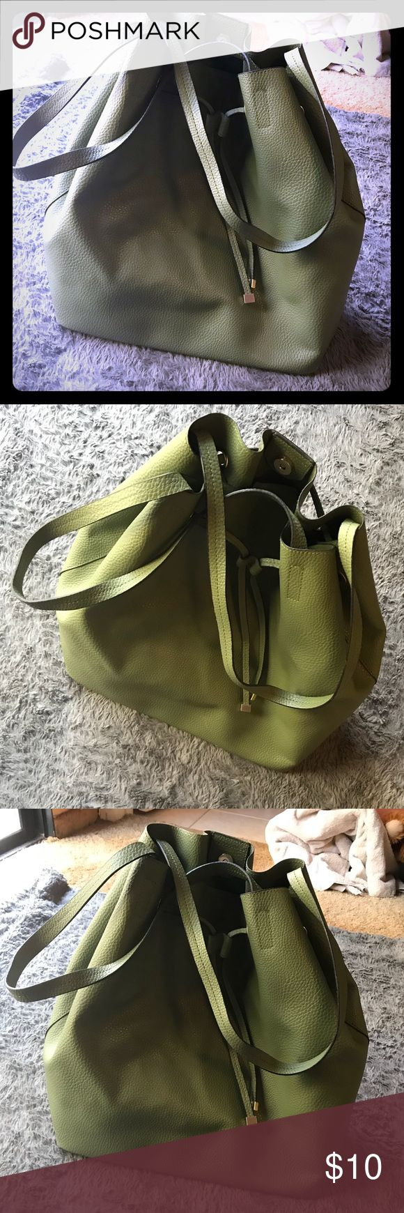 Olive Green Target Purse Used Only Once Super cute purse used only once great to bundle:)! Merona Bags Shoulder Bags