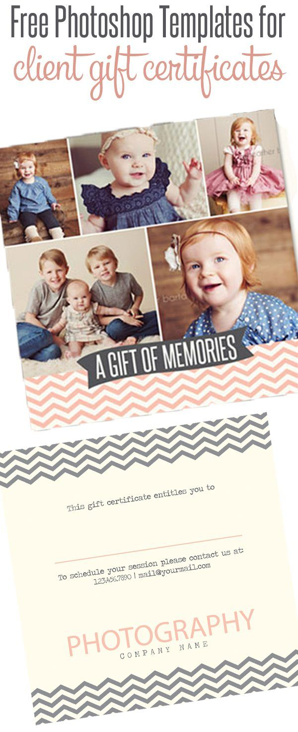 Free Gift Certificate Photoshop Templates