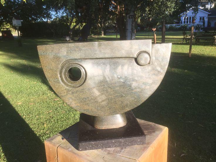 #61-309 Moon Head by Gift Bangura - Serpentine 33cm x 40 x 30 - $480